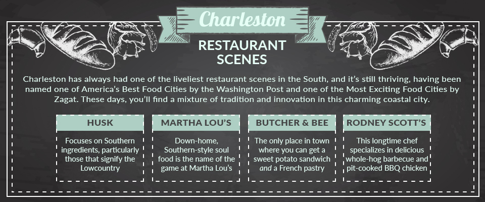 charleston restaurant scene graphic