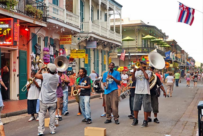 Band playing in french Quarter