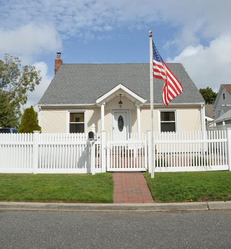 small-house-with-american-flag
