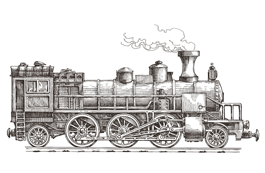 retro-steam-locomotive