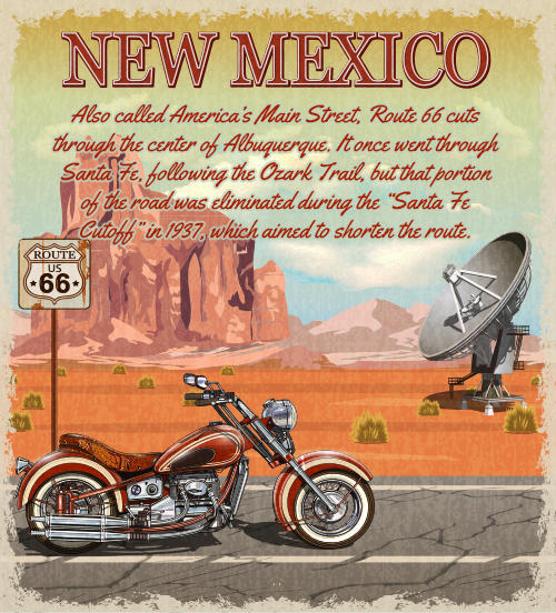 new mexico route 66 graphic