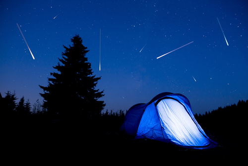 tent during meteor shower