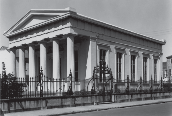 Kahal Kadosh Beth Elohim synagogue, built in 1840. Reprinted from Explorations in Charleston's Jewish History by Soloman Breibart courtesy of the K.K. Beth Elohim Papers, Special Collections, College of Charleston (pg. 146, The History Press, 2005).