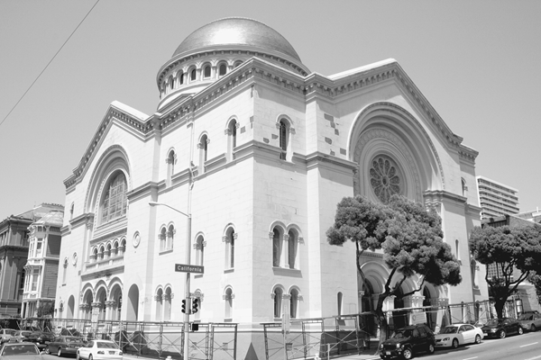 Sherith Israel Temple. Reprinted from Jewish San Francisco by Edward Zerin courtesy of the author (pg. 70, Arcadia Publishing, 2006).