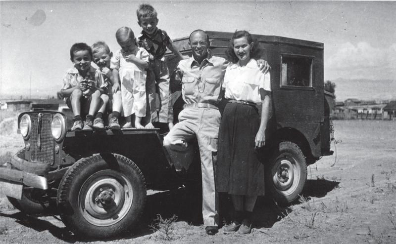 Charles Steen and his family. Reprinted from Historic Adventures on the Colorado Plateau by Robert Silbernagel courtesy of the Museum of Moab (pg. 123, The History Press, 2018).