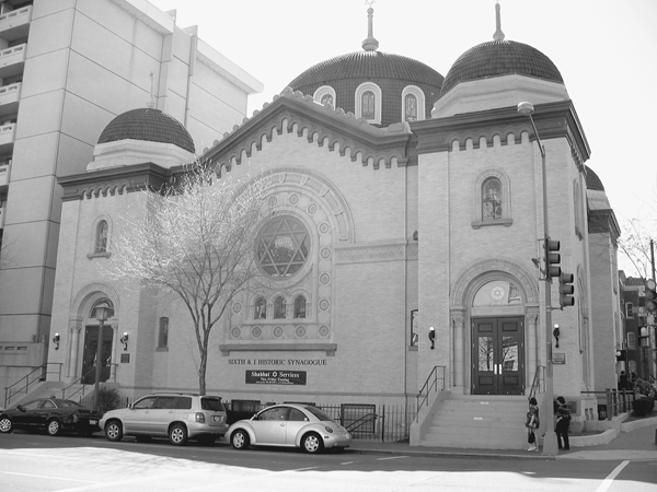 The Sixth and I Streets Historic Synagogue. Reprinted from The Jewish Community of Washington D.C. by Dr. Martin Garfinkle courtesy of Limor Garfinkle (pg. 18, Arcadia Publishing, 2005).